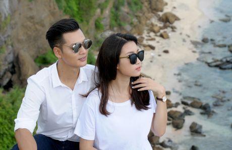 Hoa hau Do My Linh dong canh tinh tu voi Duc Tuan o Ly Son - Anh 4