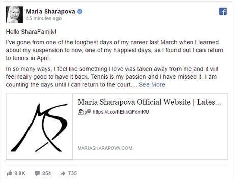 NONG: Maria Sharapova duoc giam an cam thi dau - Anh 2