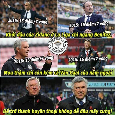 Biem hoa 24h: Mourinho thua kem Van Gaal, Zidane chi ngang Benitez - Anh 1