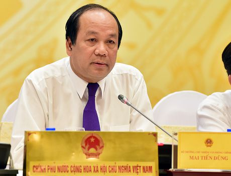 Bo truong Mai Tien Dung cong bo website Chinh phu voi DN - Anh 1