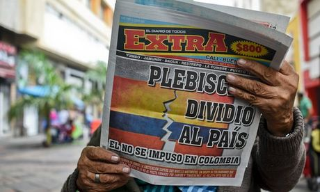 Chinh phu Colombia va phe FARC van no luc dam phan hoa binh sau ket qua trung cau dan y - Anh 1