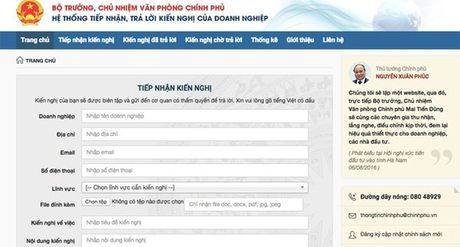 Chinh phu lap website xu ly moi van de doanh nghiep phan anh - Anh 1