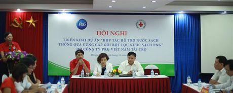 P&G va Trung uong Hoi chu thap do Viet Nam trien khai du an cung cap nuoc sach - Anh 1