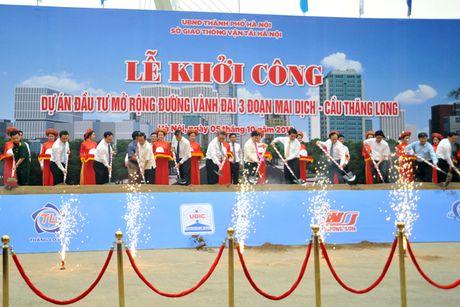 Khoi cong du an mo rong duong Vanh dai 3 doan Mai Dich – cau Thang Long - Anh 1