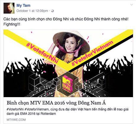 My Tam, Ha Ho keu goi binh chon cho Dong Nhi tai giai thuong MTV chau Au - Anh 1