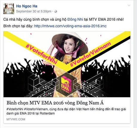 My Tam, Ha Ho keu goi binh chon cho Dong Nhi tai giai thuong MTV chau Au - Anh 2