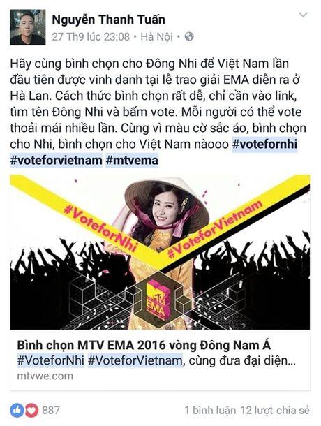 'Dan chi' My Tam, Ha Ho dong long keu goi binh chon cho Dong Nhi - Anh 11