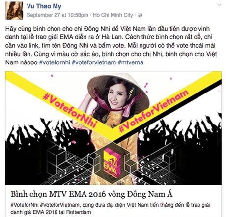 'Dan chi' My Tam, Ha Ho dong long keu goi binh chon cho Dong Nhi - Anh 13
