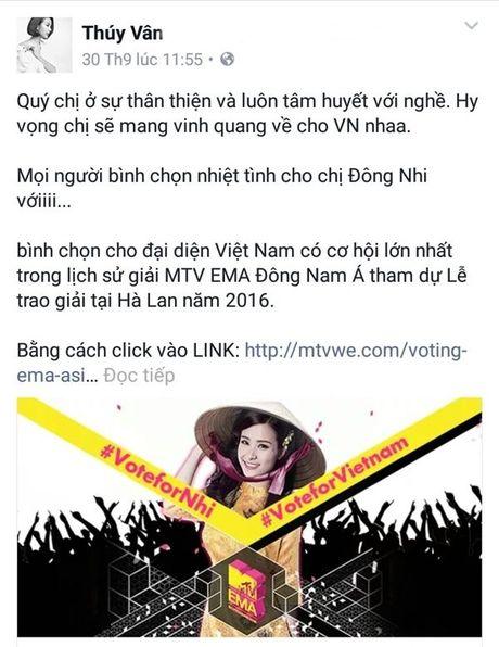 'Dan chi' My Tam, Ha Ho dong long keu goi binh chon cho Dong Nhi - Anh 16