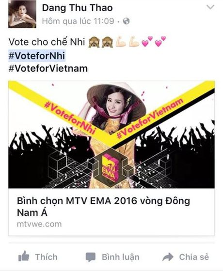 'Dan chi' My Tam, Ha Ho dong long keu goi binh chon cho Dong Nhi - Anh 5