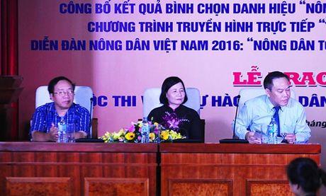 Ton vinh 63 nong dan Viet Nam xuat sac nam 2016 - Anh 1