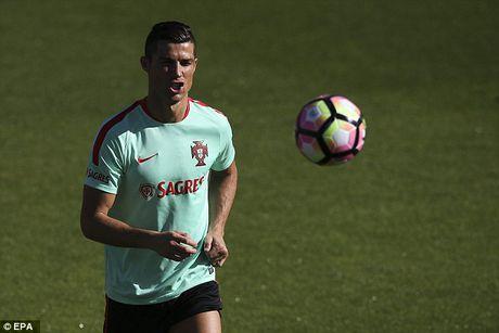 Ronaldo chay het minh tren san tap cung tuyen Bo Dao Nha - Anh 1