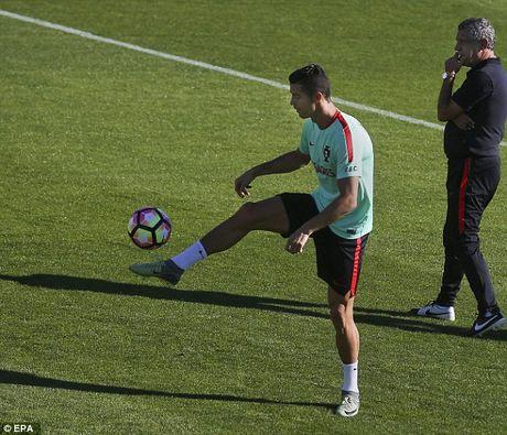 Ronaldo chay het minh tren san tap cung tuyen Bo Dao Nha - Anh 4