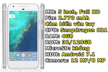Google trinh lang Pixel va Pixel XL: Cau hinh 'khung', gia ngang iPhone 7 - Anh 1