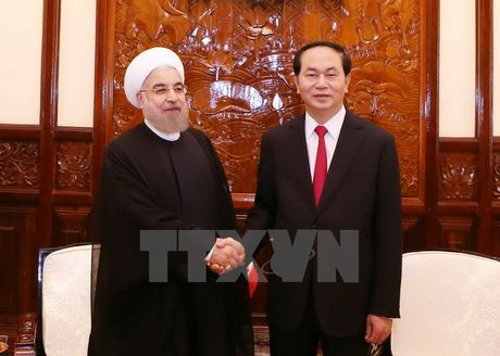 Chu tich nuoc Tran Dai Quang to chuc chieu dai Tong thong Iran - Anh 1