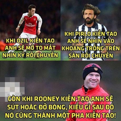 Anh che: Oezil, Pirlo 'nga mu' voi dang cap kien tao cua Rooney; Giroud 'go ca nguoi' cung co cho xai duoc - Anh 1