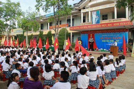 Quang Tri: Mien hoc phi cho HS bi anh huong boi su co moi truong bien - Anh 1