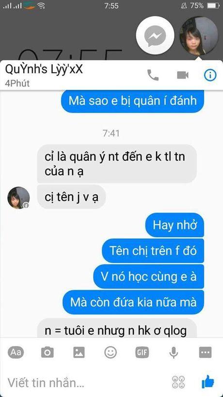 Nhom nu sinh danh ban vi nhan tin tren facebook khong duoc tra loi - Anh 3