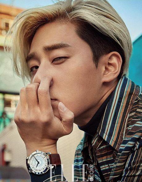 My nam Park Seo Joon cuc chat voi mai toc vang lang tu - Anh 4