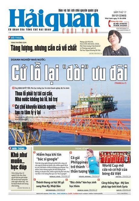 Nhung tin, bai hap dan tren Bao Hai quan so 121 phat hanh ngay 9-10-2016 - Anh 1