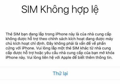 Chua co cach khac phuc cac iPhone bong dung bi khoa SIM - Anh 2