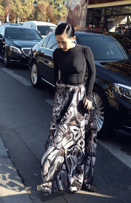Fashionista Tram Nguyen duoc san don tai tuan le thoi trang Paris - Anh 7