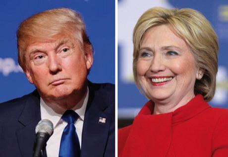 Trump con chay dai moi duoi kip Clinton - Anh 1