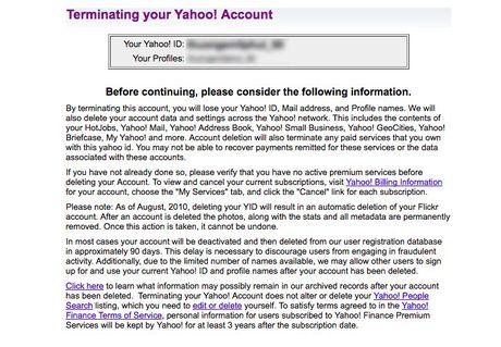 Muon an toan thi nen xoa tai khoan Yahoo - Anh 3