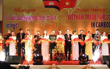 Khai mac Hoi cho thuong mai Viet Nam 2016 tai Campuchia - Anh 1