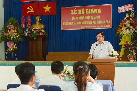 86 hoc vien nhan Chung nhan lop Boi duong nghiep vu Bao chi nganh KSND khu vuc phia Nam - Anh 2