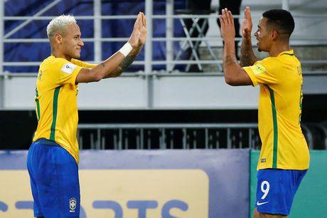 Brazil thang dam nhung Neymar do mau - Anh 1
