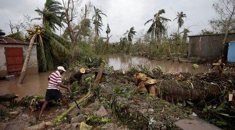 Hinh anh kinh hoang sau khi bao Mathew can quet Haiti - Anh 1