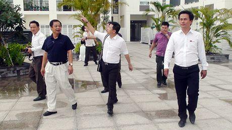 Thu truong Pham Dung kiem tra tien do hoan thien du an chung cu Bo Cong An - Anh 1