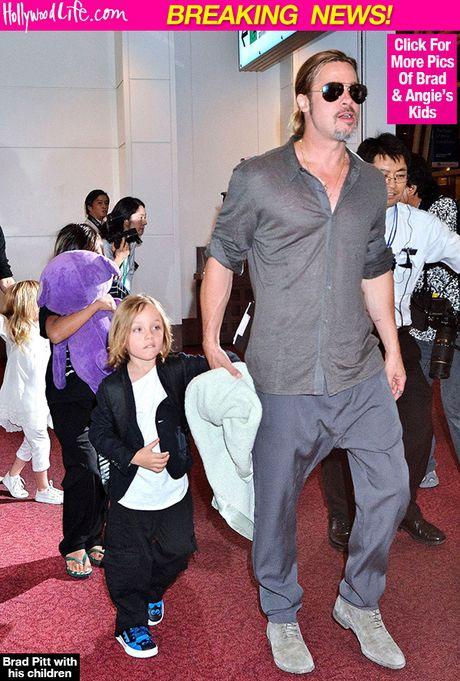 Brad Pitt hanh phuc gap lai cac con lan dau tien sau vu ly hon - Anh 3