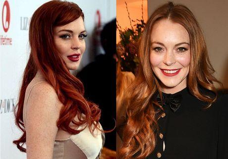 Thu thuat trang diem giup Lindsay Lohan giau nhem tan nhang - Anh 2