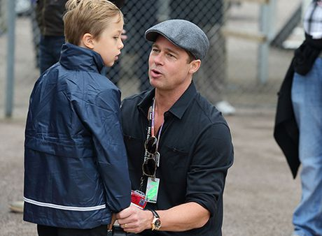 Brad Pitt lan dau duoc gap con sau vu ly hon - Anh 1