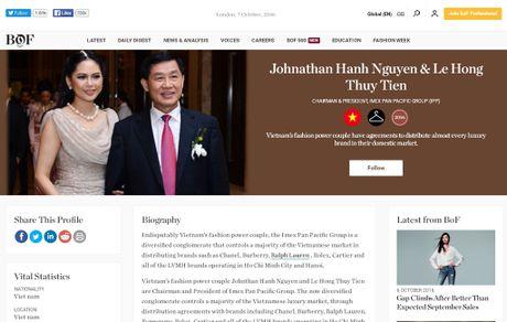 Vo chong Jonathan Hanh Nguyen - Thuy Tien duoc vinh danh cung David Beckham, Beyonce - Anh 2