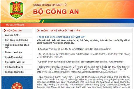 Bo Cong an thong bao ve to chuc khung bo Viet tan - Anh 1