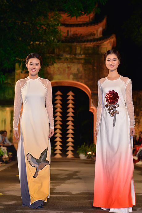 Hoa hau Ngoc Han lan dau dem thiet ke den 'Festival ao dai Ha Noi' - Anh 4