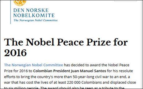 Vi sao Tong thong Colombia doat giai Nobel Hoa binh 2016? - Anh 1