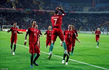 Ronaldo thiet lap nhung cot moc khung sau cu poker vao luoi Andorra - Anh 1