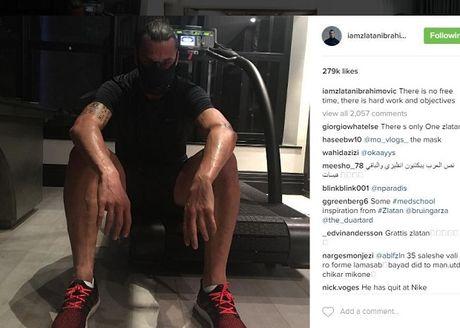 Ibrahimovic hang say luyen tap trong ngay nghi - Anh 1