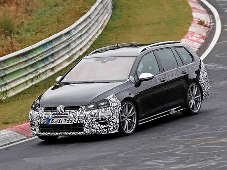 Lo anh chay thu Volkswagen Golf R Wagon 2017 Facelift - Anh 3