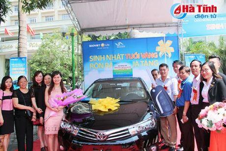 Khach hang Ha Tinh may man trung xe o to 1 ty dong cua Bao Viet Nhan tho - Anh 1
