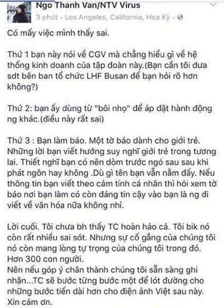 CJ CGV co the 'choi xau' Tam Cam: Chuyen chua ke tai Lien hoan phim Busan? - Anh 9