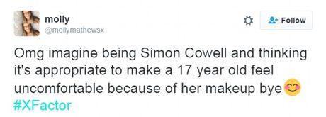 Simon Cowell 'hung gach' khi yeu cau thi sinh X-Factor thao makeup tren song truyen hinh - Anh 7