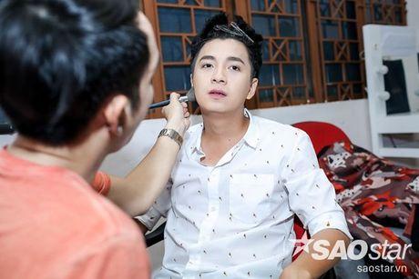 Chi Pu nhi nhanh, tao dang dang yeu ben Ngo Kien Huy trong hau truong The Voice Kids - Anh 3