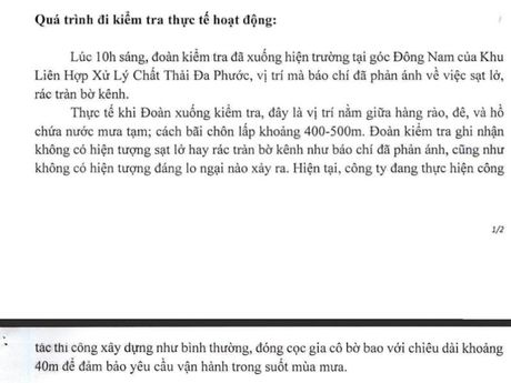 'Khong co hien tuong sat lo tai Nha may rac Da Phuoc' - Anh 1
