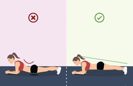 3 loi sai co ban lam hai cot song khi tap plank giam can - Anh 2