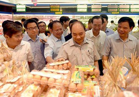 Chum anh: Thu tuong Nguyen Xuan Phuc di sieu thi, mua gio, kiem tra suat an cong nghiep - Anh 5